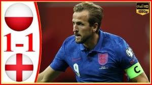 Poland vs England 1 − 1 (2022 World Cup Qualifiers Goals & Highlights)