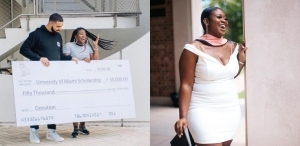 Woman who received $50,000 scholarship in Drake's 'God's Plan' video celebrate as she