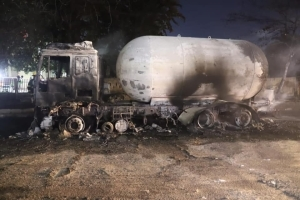 JUST IN! Pictures From Last Night's Tanker Explosion In Lagos