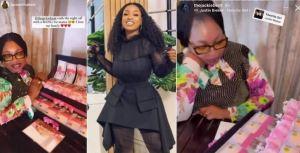 BBNaija Housemate, Jackie B Surprises Mum With N5M Cash Gift On Her Birthday (Video)