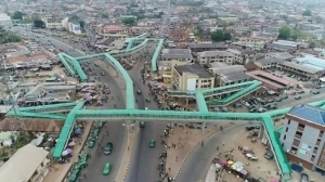 This pedestrian bridge maze in Abeokuta is allegedly the longest in sub-saharan Africa