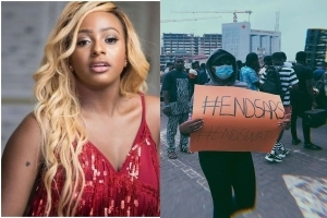 DJ Cuppy Finally Joins #EndSARS Protest (Photos)