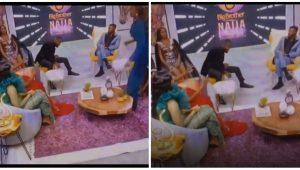 BBNaija Reunion: Drama As Tolani Baj Throws Pillow At Vee (Video)