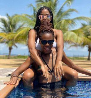 Ex BBNaija Stars Venita & Jackye Poolside Photos Sparks Controversy (See Photos)