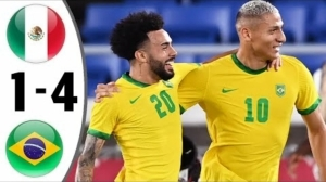Brazil vs Mexico 0 - 0 (Pen 4 - 1) (Olympic 2021 Goals & Highlights)