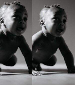Davido unveils his son's pictures on the cover of his soon-to-be-released album