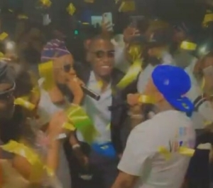 Beautiful Moment Patoranking Brought Out Davido to Surprise a Couple on Their Wedding Day (Video)