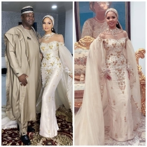 We bring you the Photos and videos from the welcome party of billionaire daughter, Adama Indimi and her husband in Kogi