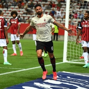 Olivier Giroud Scored Four Minutes Into His ACMilan Debut With First Touch