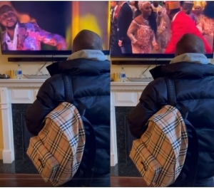 Davido Excited As He Watches Himself In Coming 2 America (Video)