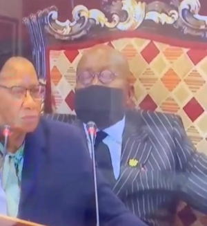 Embarrassing Moment Ghana's 77-year-old President, Nana Akufo-Addo Fell Asleep During Africa Financing Summit in France (Video)