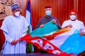 President Buhari Receives Anambra Deputy Governor Nkem Okeke Who Dumped APGA For APC