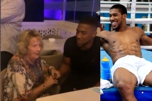 Watch An 87 Year Old Woman's PRICELESS Reaction When She Met Anthony Joshua For The First Time (Video)