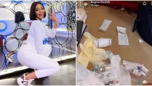 Panic As Regina Daniels Is Rushed To The Hospital For The Third Time In One Month