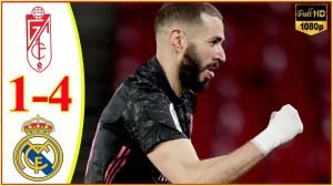 Granada vs Real Madrid 1 − 4 (LaLiga Goals & Highlights 2021)