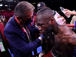 Deontay Wilder taken to hospital after being knocked down by Tyson Fury