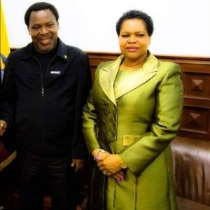 """""""Only God Can Comfort Us"""" – T.B. Joshua's Wife, Evelyn Joshua Finally Breaks Silence"""