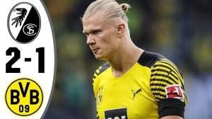 Freiburg vs Borussia Dortmund 2 − 1 (Bundesliga 2021 Goals & Highlights)
