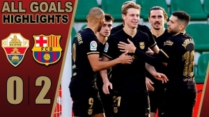 Elche vs Barcelona 0  - 2 (LA Liga Goals & Highlights 2021)