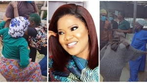 """""""Knee No Dey Pain You?' – Reactions As Toyin Abraham's Shows Respect To Elders In New Video"""