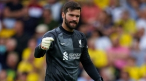 Liverpool goalkeeper Alisson welcomes