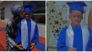 """""""Proud Mummy Moment"""" – Congratulations Pour In For Tiwa Savage As Her Son, Jamil Graduates From Pre-school (Photo/Video)"""