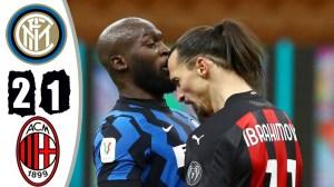 Inter vs AC Milan 2 - 1 (Coppa  Italia Goals & Highlights 2021)