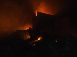 Horror! Goods Worth Millions Of Naira Destroyed As Fire Guts Shops And Pharmacy In Kaduna (Photos)