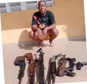 Police Arrest Nollywood Producer, Mike Omoruyi With Guns In Delta (Photo)
