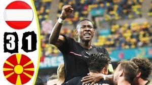 Austria vs North Macedonia  3 − 1 (EURO 2020 Goals & Highlights)