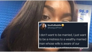 """""""No Marriage I Just Want To Be A Mistress To A Wealthy Man Whose Wife Is Aware Of Our Relationship"""" – Lady Writes"""