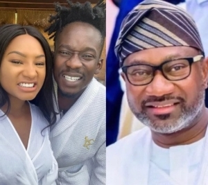 """When una go marry?"" – Femi Otedola asks his daughter Temi and her boyfriend, Mr Eazi"