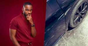 BBNaija's Prince Voices Out His Frustrations As Delivery Rider Bash His Car
