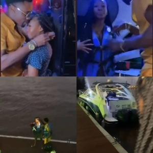 BBNaija: BBNaija Star, Neo Akpofure Takes His Girlfriend, Vee On a Boat Cruise on Her 25th Birthday