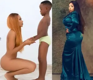 You really delusional and you need urgent mental evaluation - Anita Joseph slams Ghanaian actress, Akupem Poloo for going completely naked in front of her son