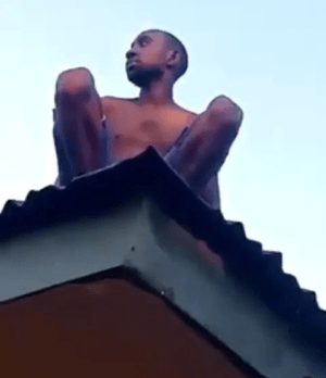 Alleged wizard returning from coven crash lands on roof top in Delta (video)