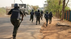 JUST IN!!! Police Storm Joy Nunieh's Residence