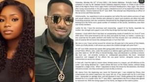 Alleged Rape : Dbanj's Accuser, Ms Seyitan Babalola releases Official Press Statement