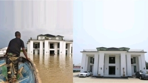 See How Flood Destroyed Delta State Politician's Multi-Million Mansion – Photos