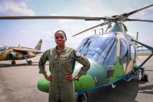 Nigerian Air force's first female combatant helicopter pilot dies eight months after special recognition