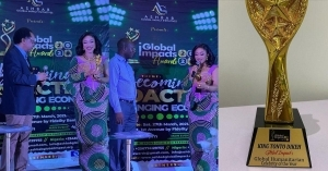 Actress, Tonto Dikeh Bags Global Humanitarian Celebrity Of The Year Award