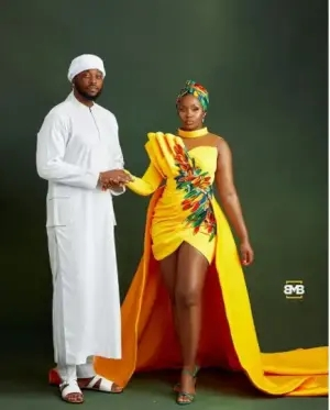 #BBNaija couple, Teddy A and Bam Bam celebrate 1st anniversary of their traditional wedding