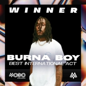 "Burna Boy wins ""Best International Act"" at MOBO Awards 20200"