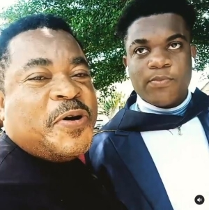 """""""Your Mumu Go Pass My Mumu"""" – Actor, Victor Osuagwu 'Blesses' Son as he Graduates From School (Video)"""