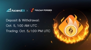 Vulcan Forged Lists on AscendEX – Press release Bitcoin News