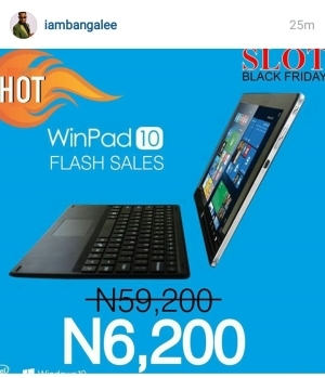 #BlackFriday: Dbanj Shares The Cheapest Laptop for sale (BUY NOW)