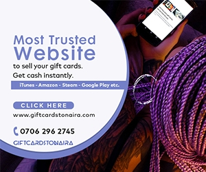 Most Trusted Website to Sell Your Gift Card for Naira Instantly