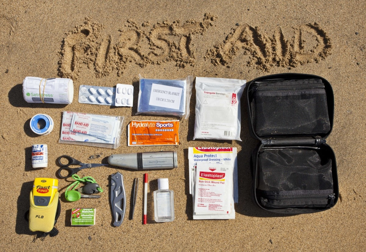 Bush safety How to stay safe in the bush and keep your mum happy, Joel Johnnson, wilderness first aid kit, bandage, band aids, PLD, pen knife.