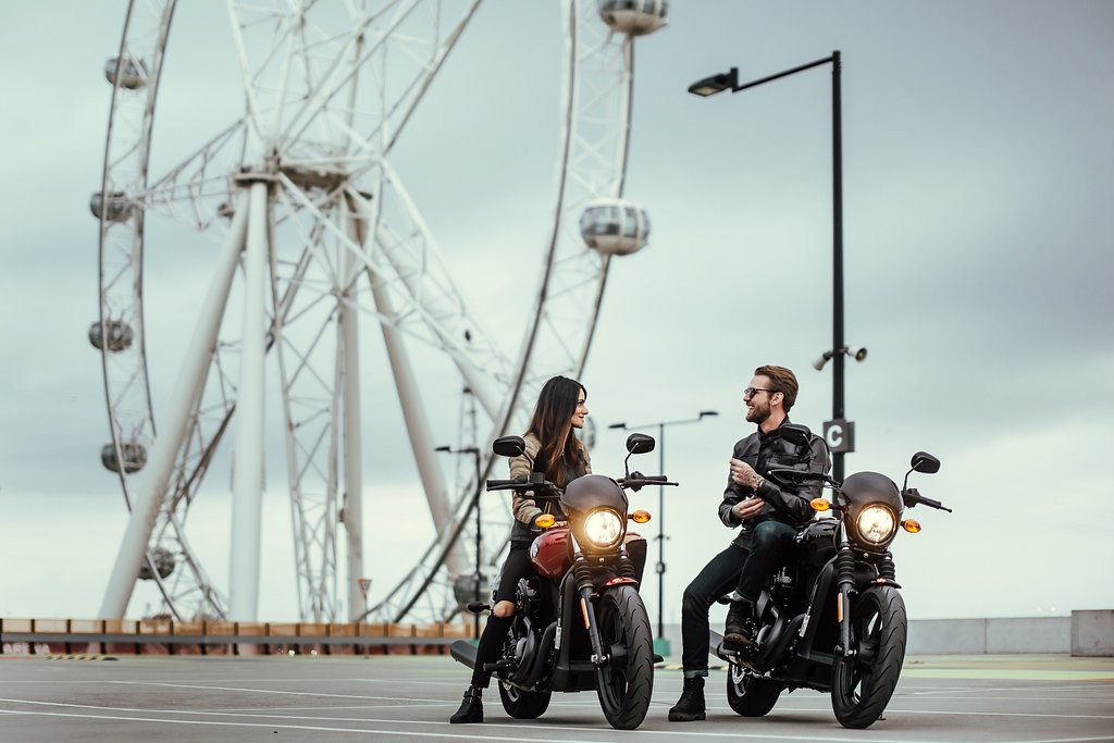 Another Urban Adventure // Melbourne (VIC), Henry Brydon, couple, rooftop, motorbikes, car park, big wheel, talking, leather