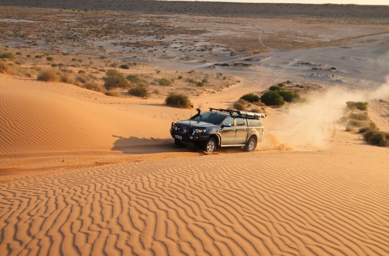 prostate cancer foundation, drive your 4wd to the red centre for charity